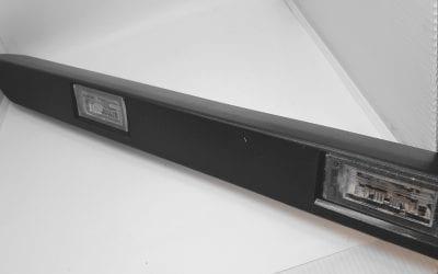 Lampa tylna tablicy rejestracyjnej Citroen Jumper 2006 oryginał 735430904