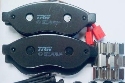 Klocki hamulcowe przód Peugeot Boxer TRW GDB 1681 parts4van